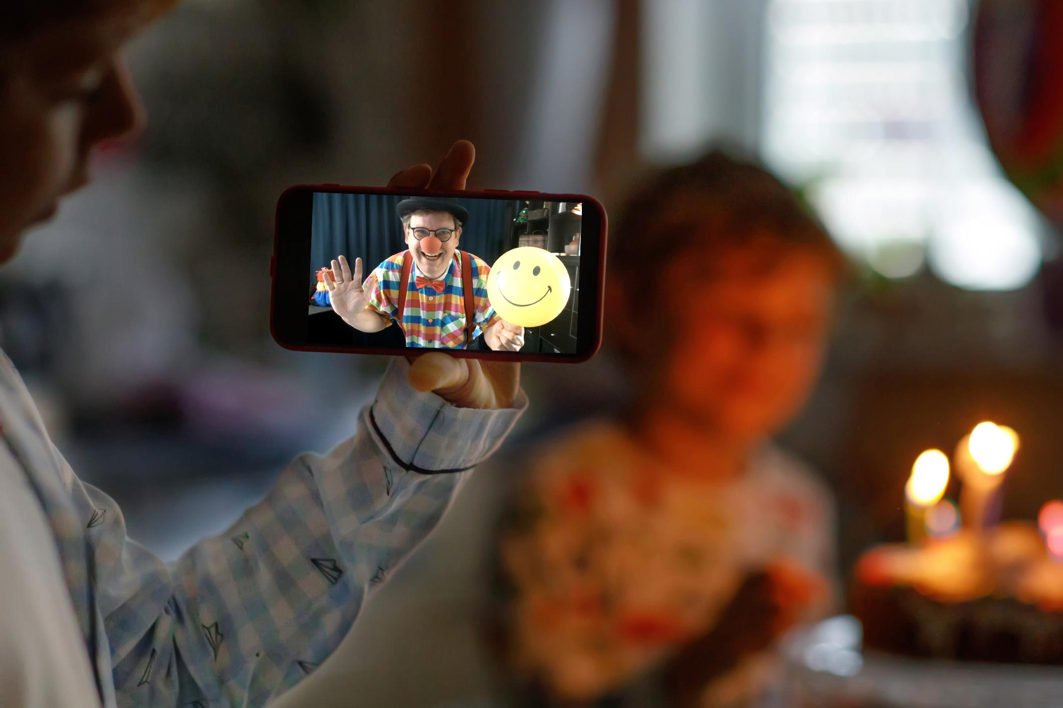 Virtueller Kindergeburtstag - Online-Party mit Clown Benji